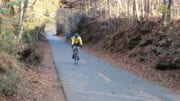 Cyclist on the Silver Comet Trail in article about Silver Comet Trail reopen