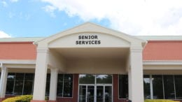 Cobb County Senior Services building with article about ARC funds