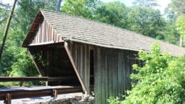 Concord Covered Bridge in article about archeological investigation at Concord Covered Bridge