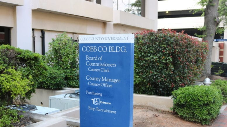 Cobb County government building in article about rent and mortgage assistance