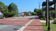 Main Street in downtown Kennesaw -- in aricle on Kennesaw Grand Prix