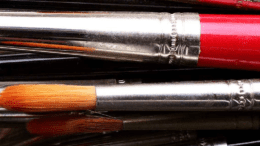 artist brushes for National Juried Exhibition article