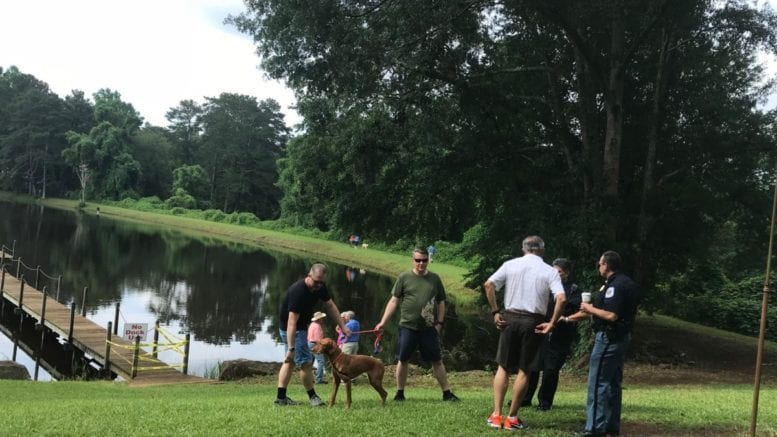 Residents preview new park on Ebenezer Road (photo by Rebecca Gaunt)