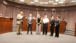 Commissioner Bob Weatherford reads proclamation to Cobb Elder Abuse Task Force