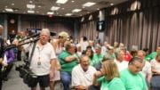 Crowd at BOC meeting and millage rate hearing (photo by Larry Felton Johnson)