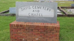 Davis Chapel Cemetery (photo by Larry Felton Johnson)