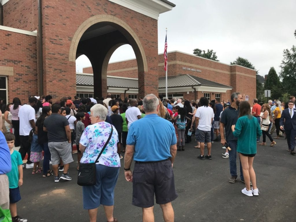 East Cobb Middle School had a large turnout for the grand opening. (photo by Rebecca Gaunt)