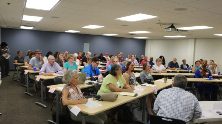 Sierra Club Centennial Group listens to Meet the Candidates panels (photo by Larry Felton Johnson)