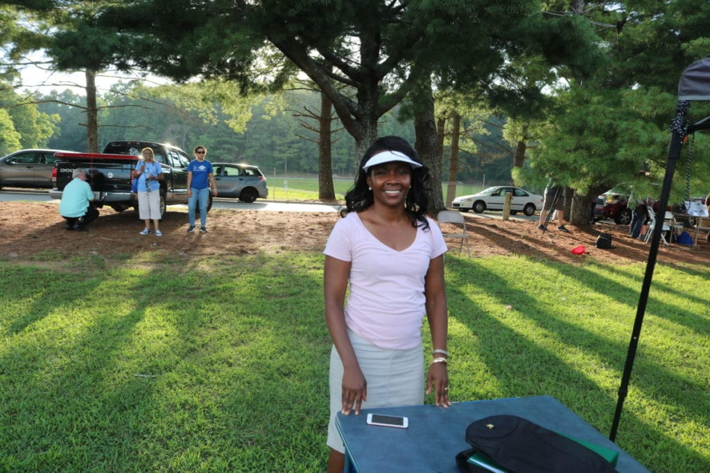 Cobb County district 4 Commissioner Lisa Cupid at National Night Out on Riverside Parkway (photo by Larry Felton Johnson)