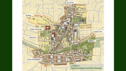 Mableton implementation map from the South Cobb Redevelopment Authority used in article about Mableton Square