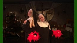 Two cast members from the Campbell High School Drama Club production of Nunsense. (photo courtesy of Tony Waybright)
