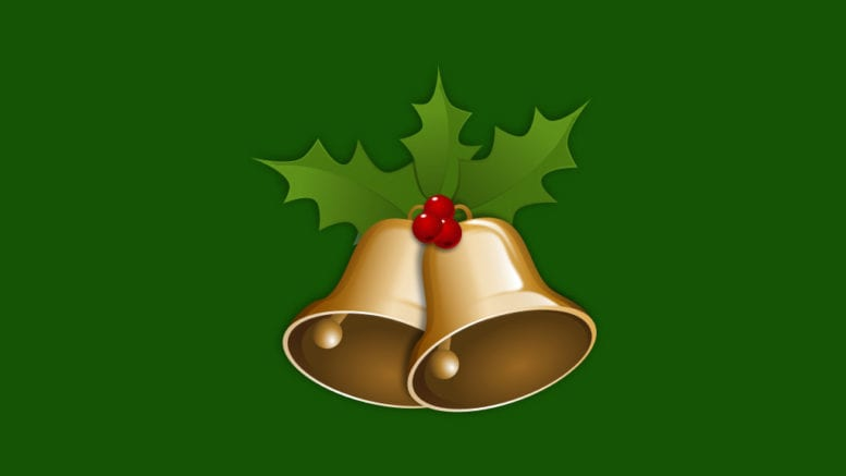Christmas Bells (public domain image from the Open Clipart Library)