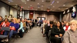 Overflow crowd at December's Cobb County Planning Commission meeting in article about Milford Church Road townhomes