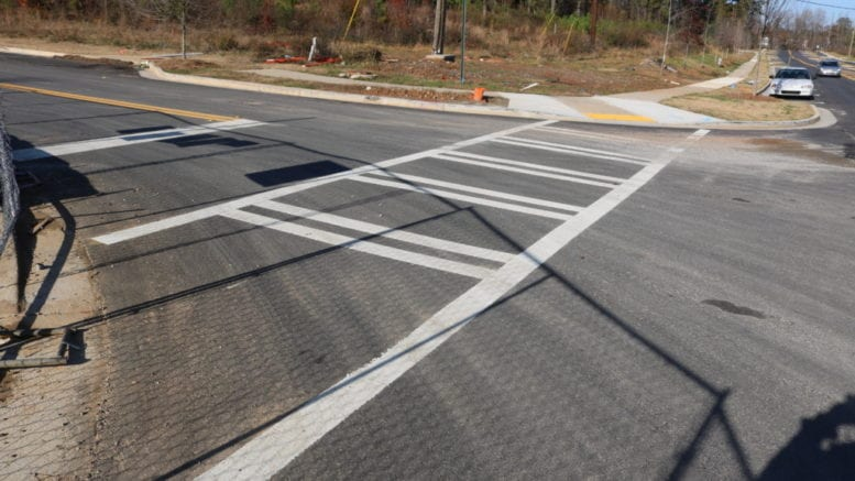 Crosswalks, in article about pedestrian safety improvements