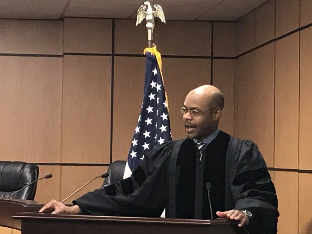Wheeler High graduate and Georgia Supreme Court justice Harold Melton performed the ceremony.