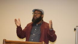 Leroy Tre'Hutchins at South Cobb cityhood informational meeting