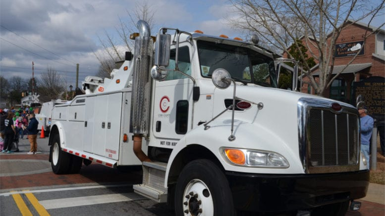large white truck in article about Touch-A-Truck