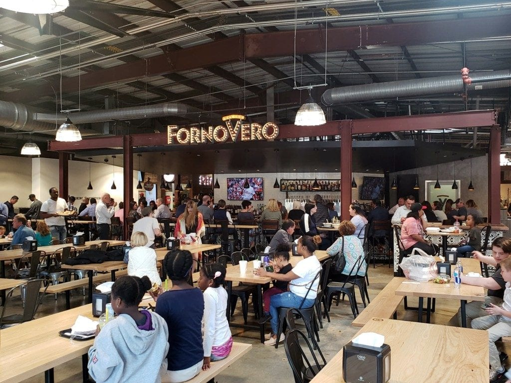 Interior of Marietta Square Market facing Forno Vero (photo by Alex Patton)