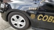 Detail of Cobb County Police Department STEP Unit vehicle in article about fatal accident I-75 Barrett Parkway