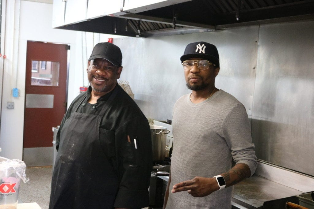 L-R, Richard Seagrave and Zaire Jacobs in the kitchen at Full Throttle Roadhouse (photo by Larry Felton Johnson)