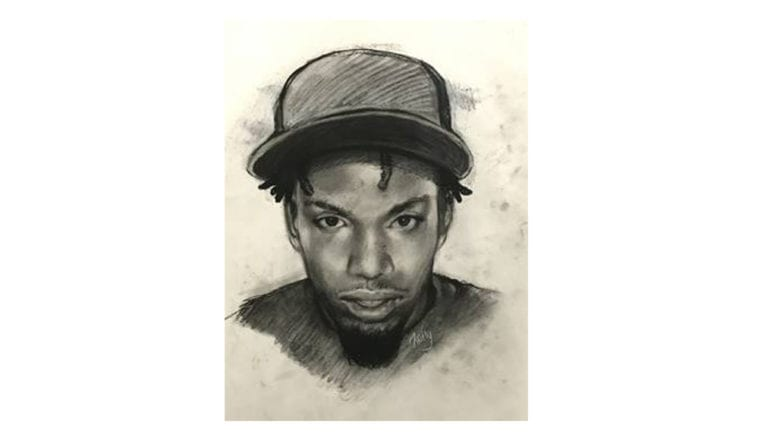 Sketch of person being sought in connection with the Westside Drive homicide