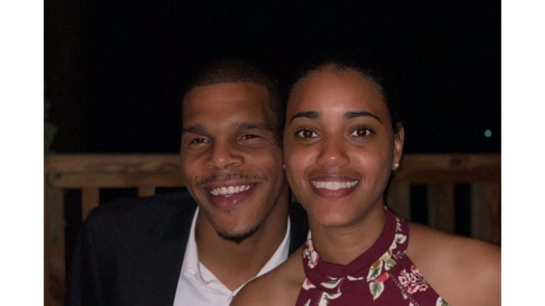 Antonio Jones and girlfriend Chantel Benjamin