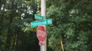 Road sign at Pebblebrook and Buckner Road in article about Smyrna annexation