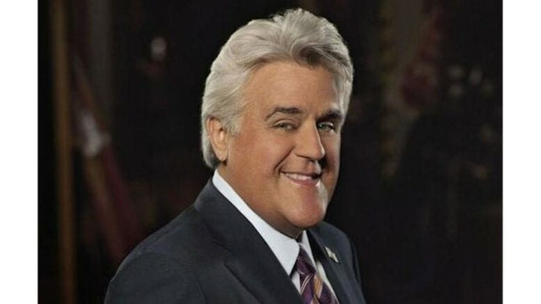 Headshot of Jay Leno smiling