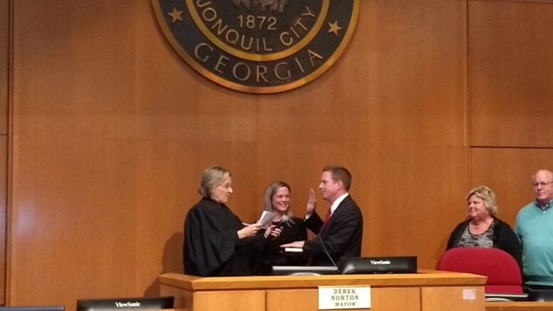Swearing-in ceremony in Smyrna