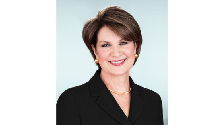 Lockheed Martin chairman, president and CEO Marillyn Hewson in article about Lockheed Martin first quarter sales increase