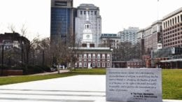 First Amendment inscription at Independence Hall