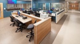 Wellstar Kennestone Emergency Department interior shot of medical staff workstations and rooms