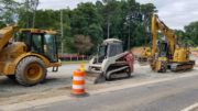 roadwork equipment in article about Macland Road