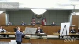 Architect Ryan Lee explains his concerns about the 1465 Shiloh Rd. property at the June 15 council meeting.