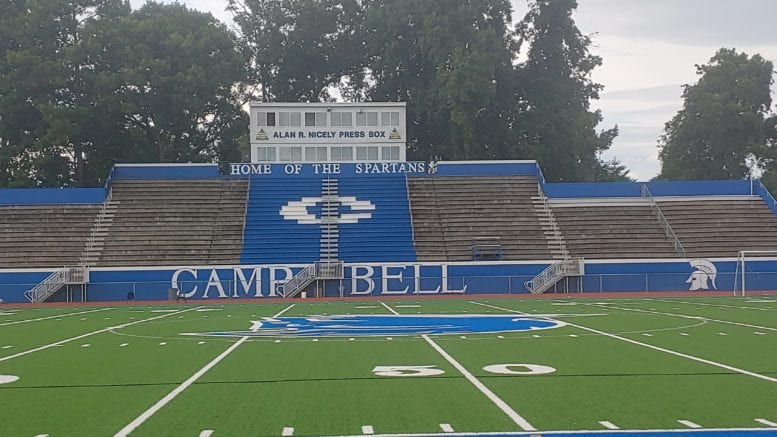 Campbell High School stadium in article about Morrow game