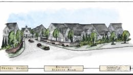 Screenshot of rendering of townhome development to be built at 1630 Stanley Rd.