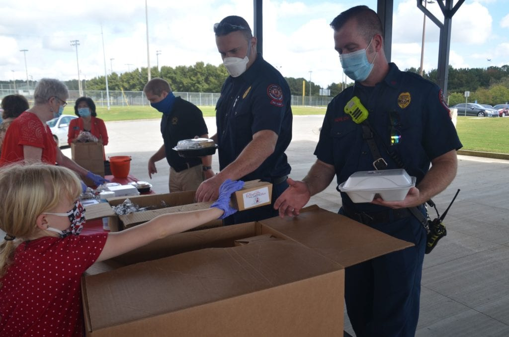 First responders served meals