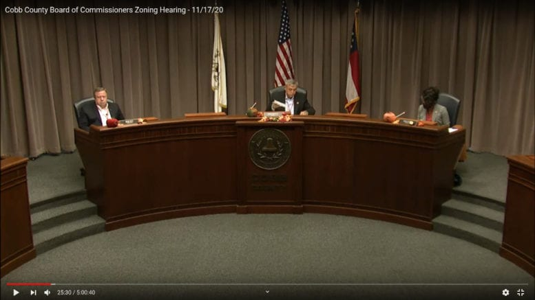 Screenshot from the BOC zoning hearing