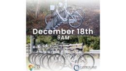 image with bicycles and text December 18th 9 a.m.