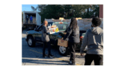 Volunteers loading food at Reflections of Trinity Food distribution in Powder Springs