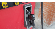 Georgia gasoline prices unchanged illustrated by a closeup of a gas pump nozzle
