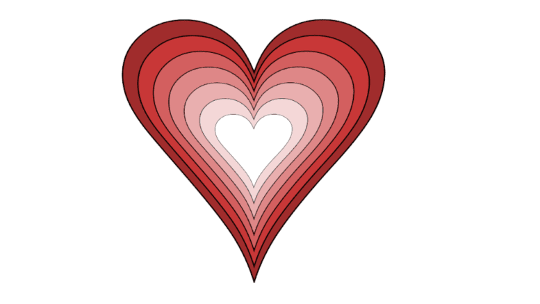 Drawing of Valentine's Day heart