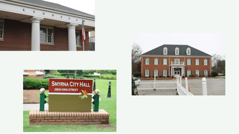Images from the city halls of Kennesaw, Powder Springs and Smyrna (photos by Larry Felton Johnson)