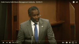 Cobb Public Services Agency Director Bill Tanks presents to the authority