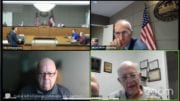 Screenshot of zoom session of Kennesaw city council work session.