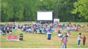 Kennesaw free outdoor movie crowd image from past year