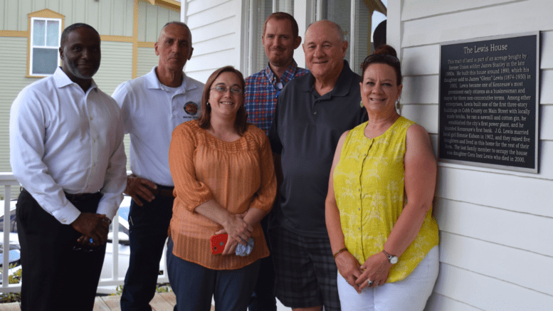 Members of the Historic Preservation Commission pictured with Mayor Derek Easterling and Zoning Administrator and Staff Liaison for HPC Darryl Simmons