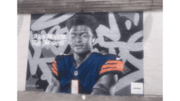 mural of Justin Fields