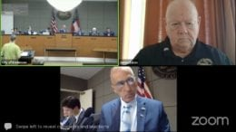 Screenshot of Kennesaw City Council meeting from the Zoom session
