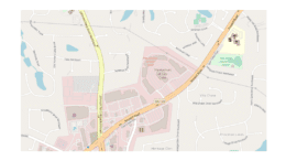 map showing location of Avenue at East Cobb the corner of Roswell Road and Johnson Ferry Road